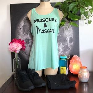 Muscles and mascara tank